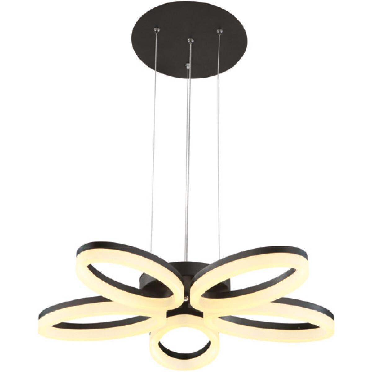 LED Plafondlamp - Plafondverlichting - Luxury - 40W - Natuurlijk Wit 4000K - Zwart Aluminium