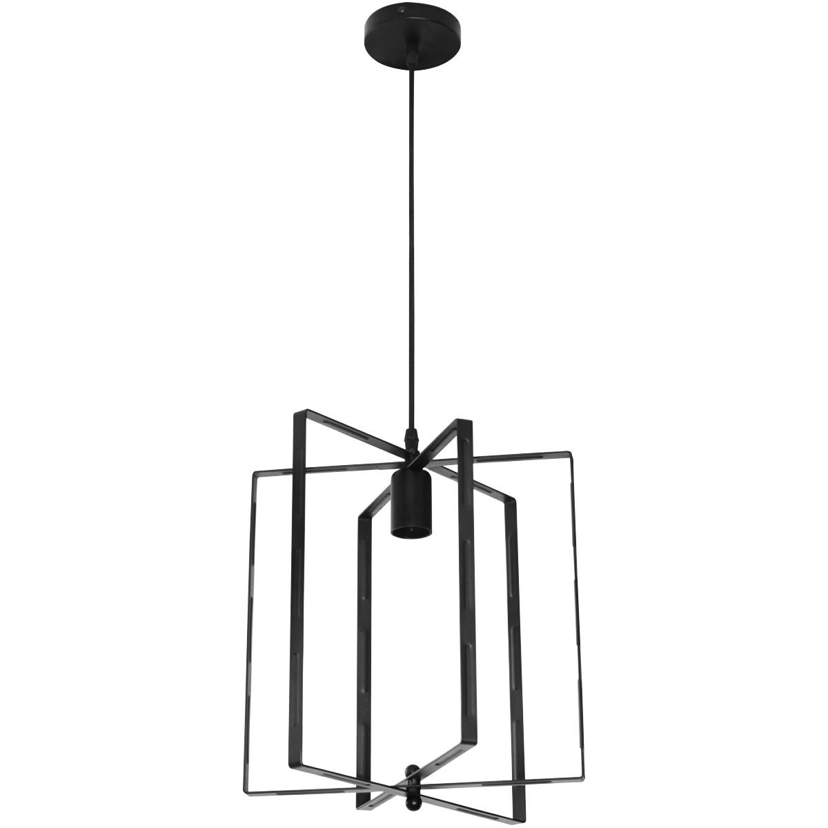 LED Plafondlamp - Plafondverlichting - Noby - Industrieel - Rond - Mat Zwart Aluminium - E27