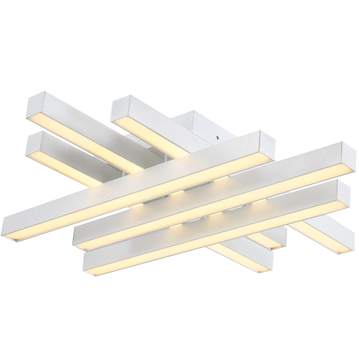 LED Plafondlamp - Plafondverlichting - Trendy - 50W - Natuurlijk Wit 4000K - Wit Aluminium