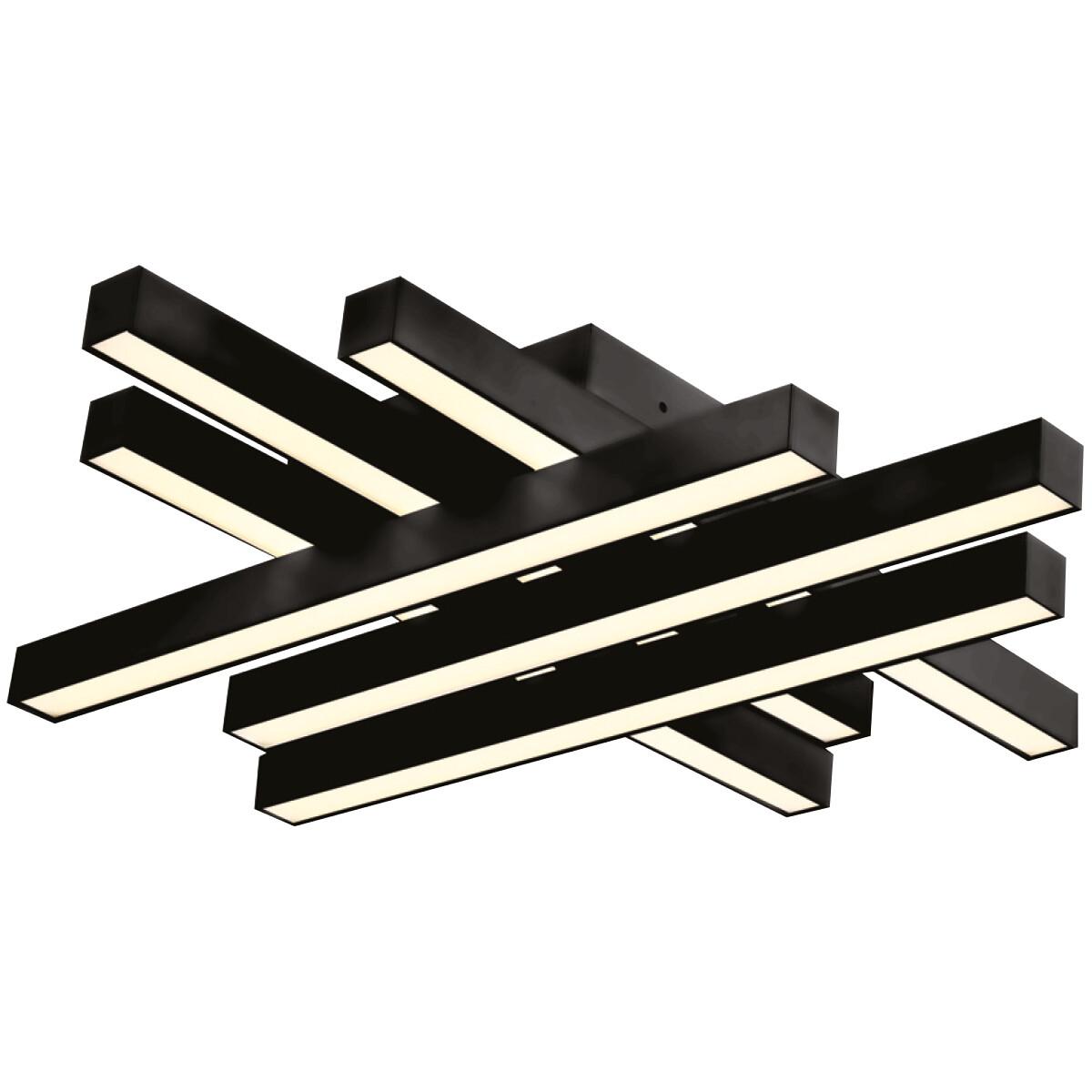 LED Plafondlamp - Plafondverlichting - Trendy - 50W - Natuurlijk Wit 4000K - Zwart Aluminium