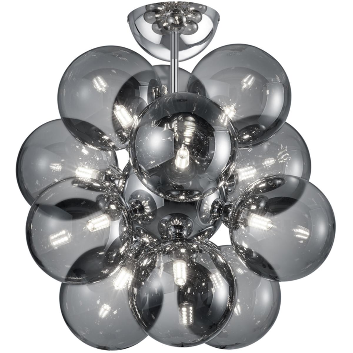 LED Plafondlamp - Plafondverlichting - Trion Alionisa - G9 Fitting - 12-lichts - Rond - Glans Chroom