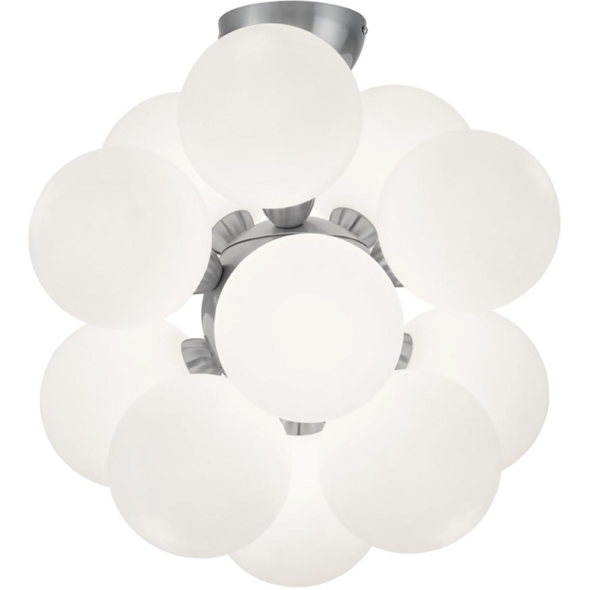 LED Plafondlamp - Plafondverlichting - Trion Alionisa - G9 Fitting - 12-lichts - Rond - Mat Nikkel -