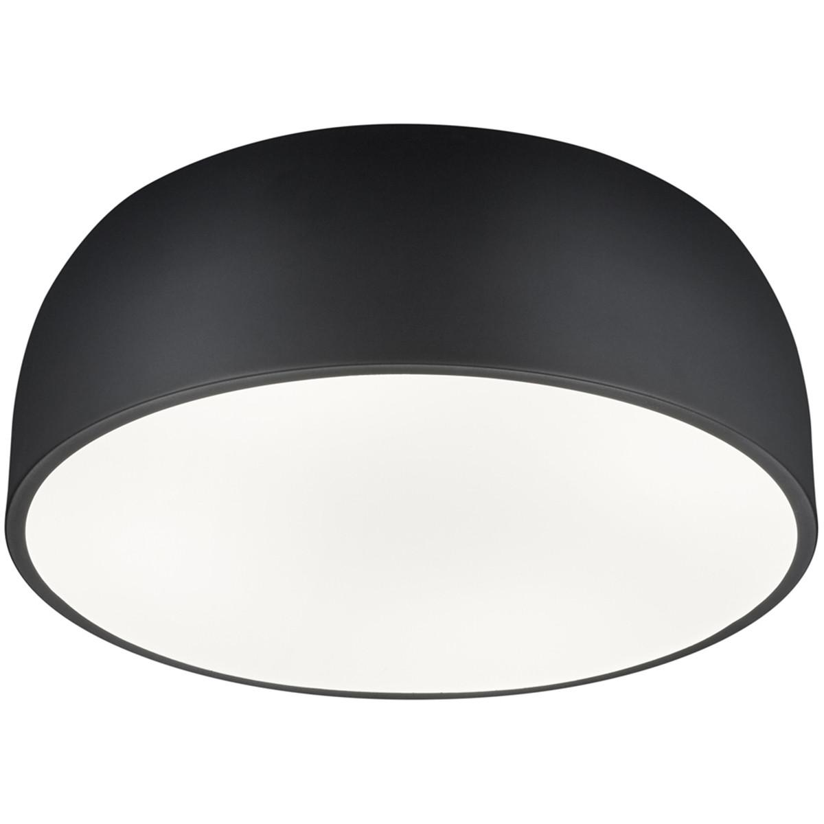 LED Plafondlamp - Plafondverlichting - Trion Barnon - E27 Fitting - 4-lichts - Rond - Mat Zwart - Al