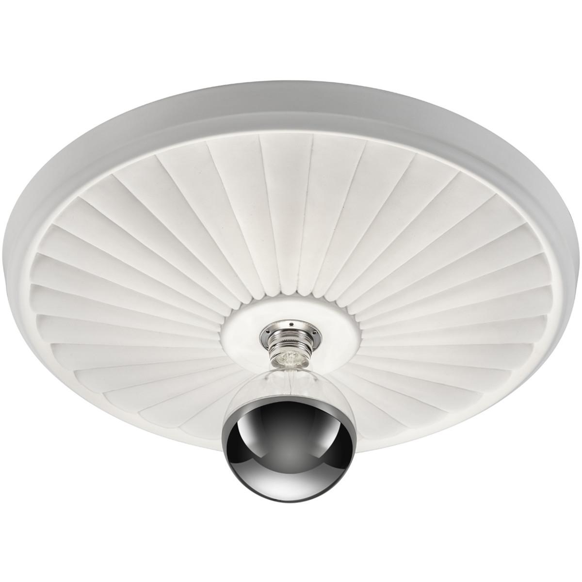 LED Plafondlamp - Plafondverlichting - Trion Corina XL - E27 Fitting - 1-lichts - Rond - Mat Wit - G