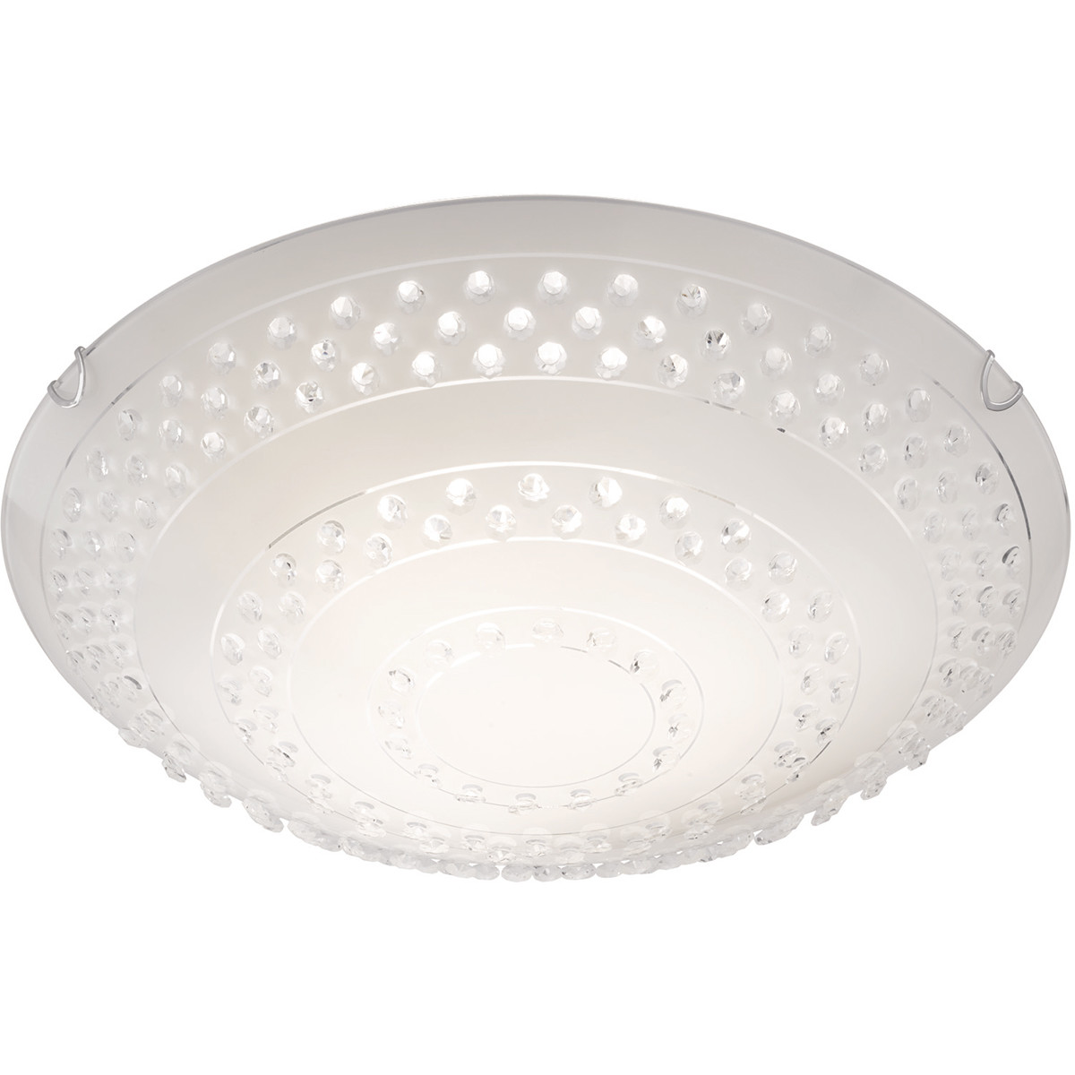 LED Plafondlamp - Plafondverlichting - Trion Crasto - E27 Fitting - 3-lichts - Rond - Mat Wit - Alum