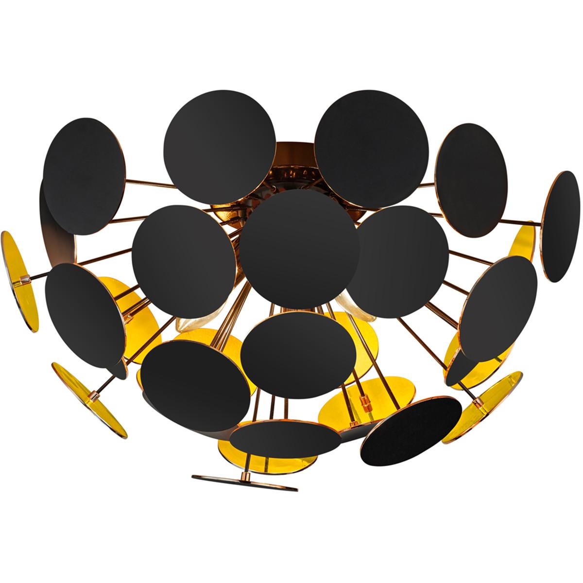 LED Plafondlamp - Plafondverlichting - Trion Discon - E14 Fitting - 3-lichts - Rond - Mat Zwart Alum