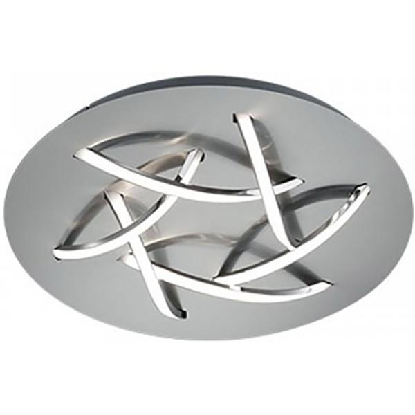 LED Plafondlamp - Trion Dolpha - 18W - Warm Wit 3000K - 6-lichts - Dimbaar - Rond - Mat Nikkel - Alu