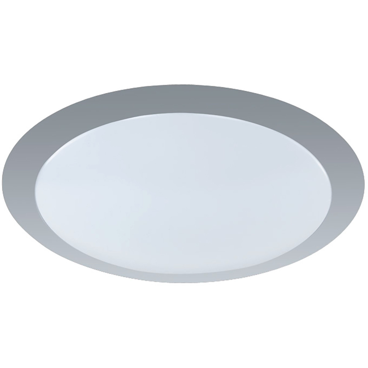 LED Plafondlamp - Plafondverlichting - Trion Ginzon - 12W - Warm Wit 3000K - Rond - Mat Titaan - Alu