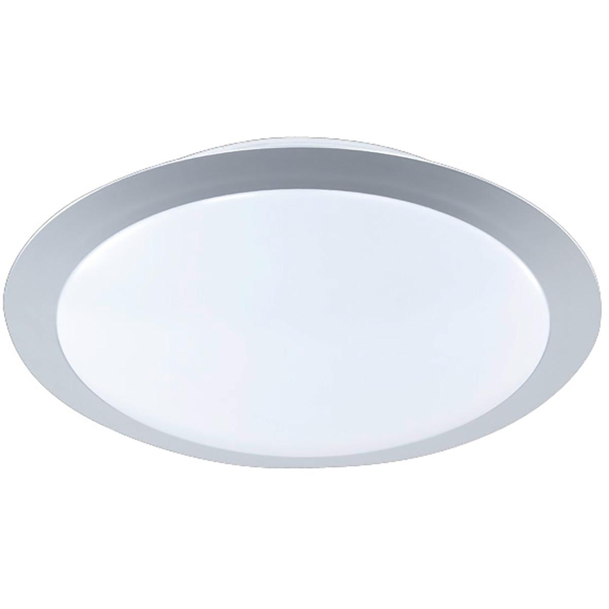 LED Plafondlamp - Plafondverlichting - Trion Ginzon - 9W - Warm Wit 3000K - Rond - Mat Titaan - Alum