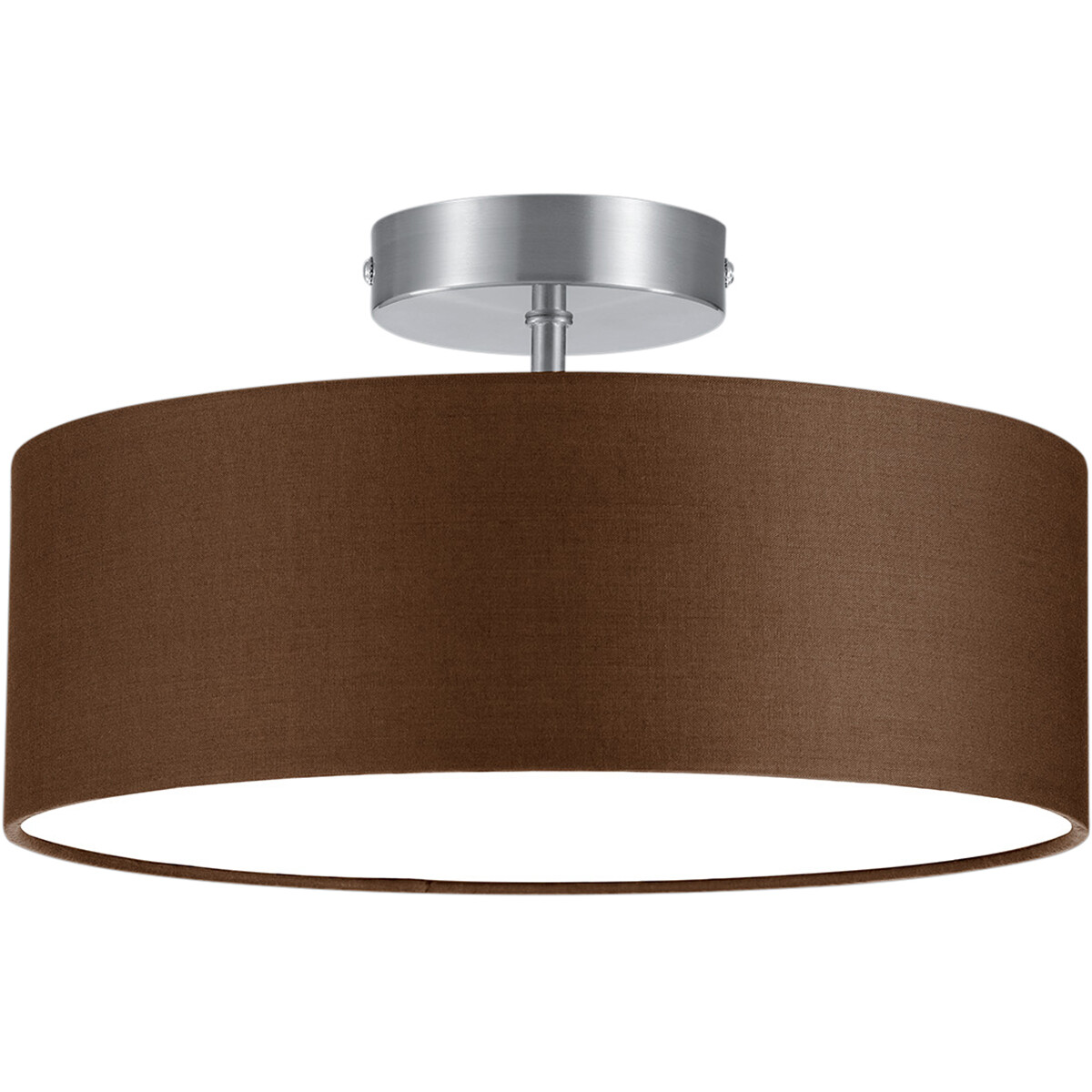 LED Plafondlamp - Plafondverlichting - Trion Hotia - E14 Fitting - 2-lichts - Rond - Mat Bruin - Alu