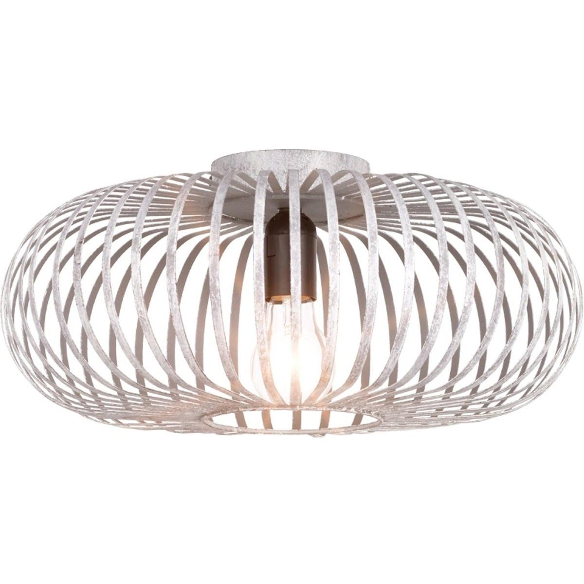 LED Plafondlamp - Plafondverlichting - Trion Johy - E27 Fitting - Rond - Industrieel - Mat Grijs - A