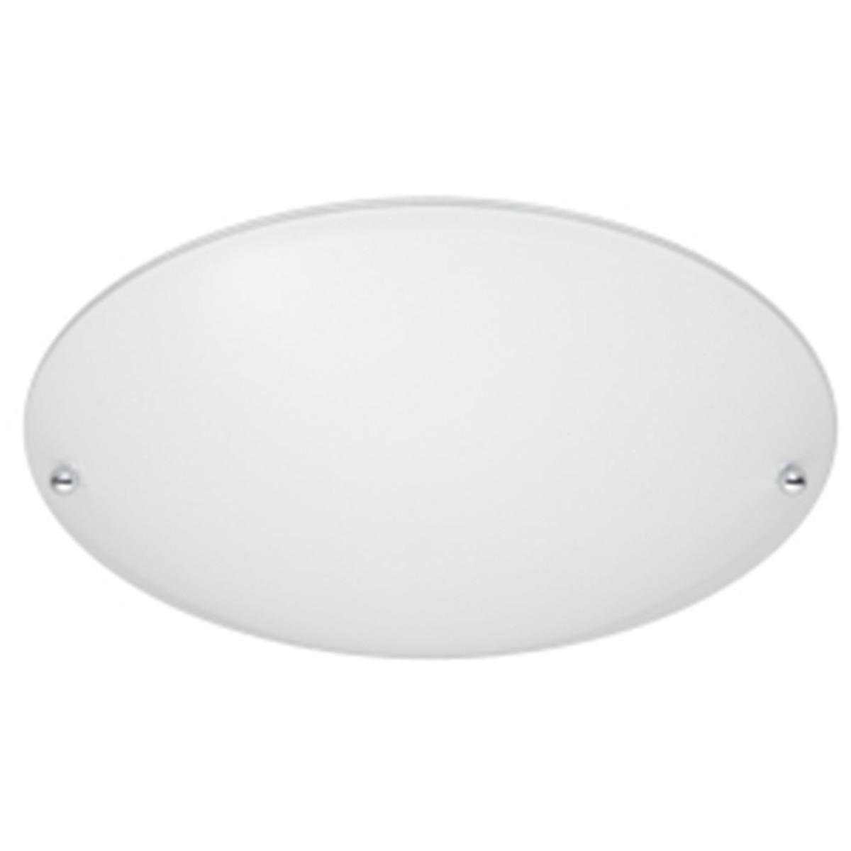 LED Plafondlamp - Plafondverlichting - Trion Linola - E27 Fitting - Rond - Mat Wit - Aluminium