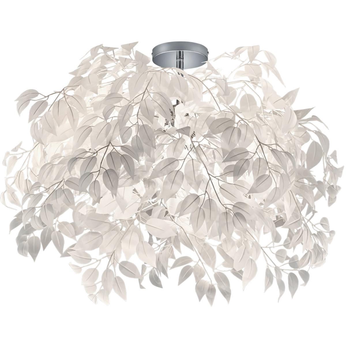 LED Plafondlamp - Plafondverlichting - Trion Lovy - E14 Fitting - 3-lichts - Rond - Glans Chroom Alu