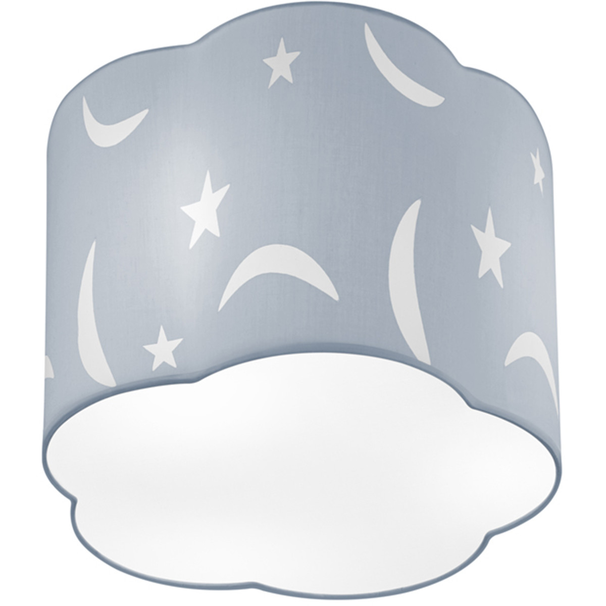 LED Plafondlamp - Plafondverlichting - Trion Monimo - E27 Fitting - 1-lichts - Rond - Mat Blauw - Al
