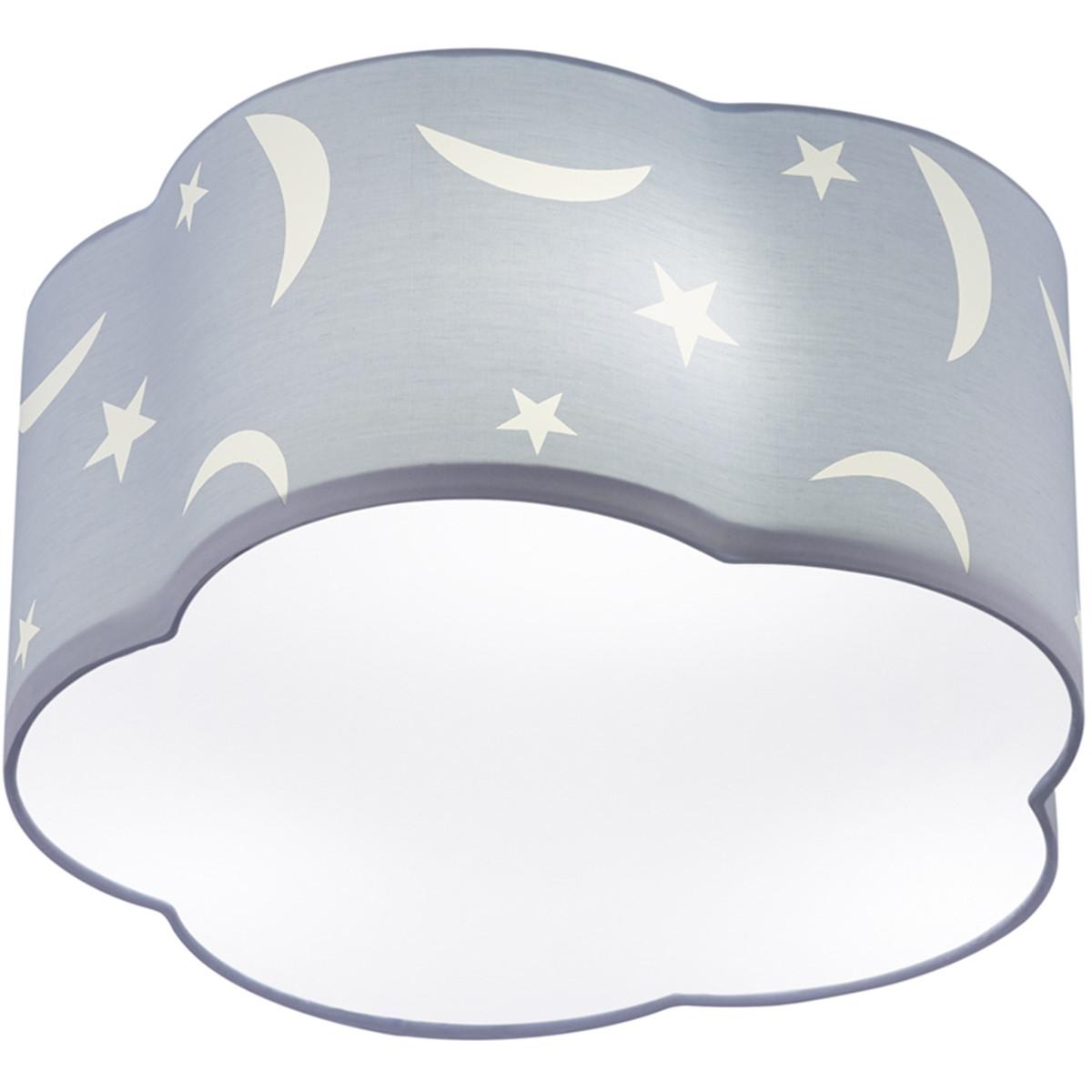 LED Plafondlamp - Plafondverlichting - Trion Monimo - E27 Fitting - 3-lichts - Rond - Mat Blauw - Al