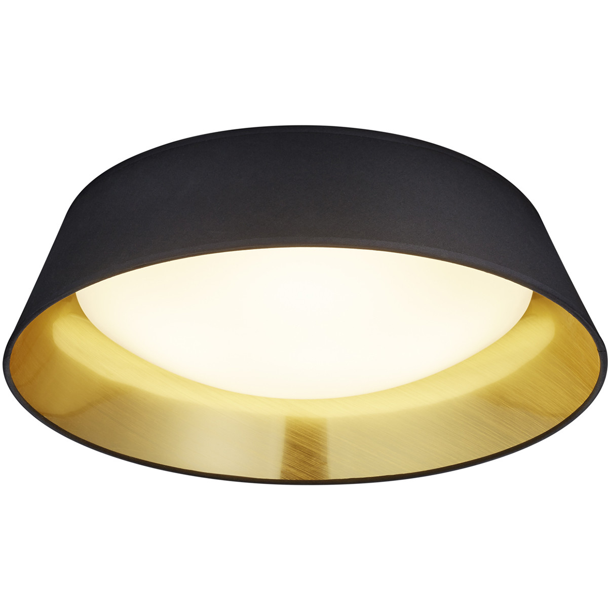 LED Plafondlamp - Plafondverlichting - Trion Pinton - 18W - Warm Wit 3000K - Rond - Mat Zwart - Text