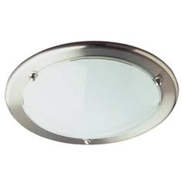 LED Plafondlamp - Plafondverlichting - Trion Primy - E27 Fitting - Rond - Mat Wit - Aluminium