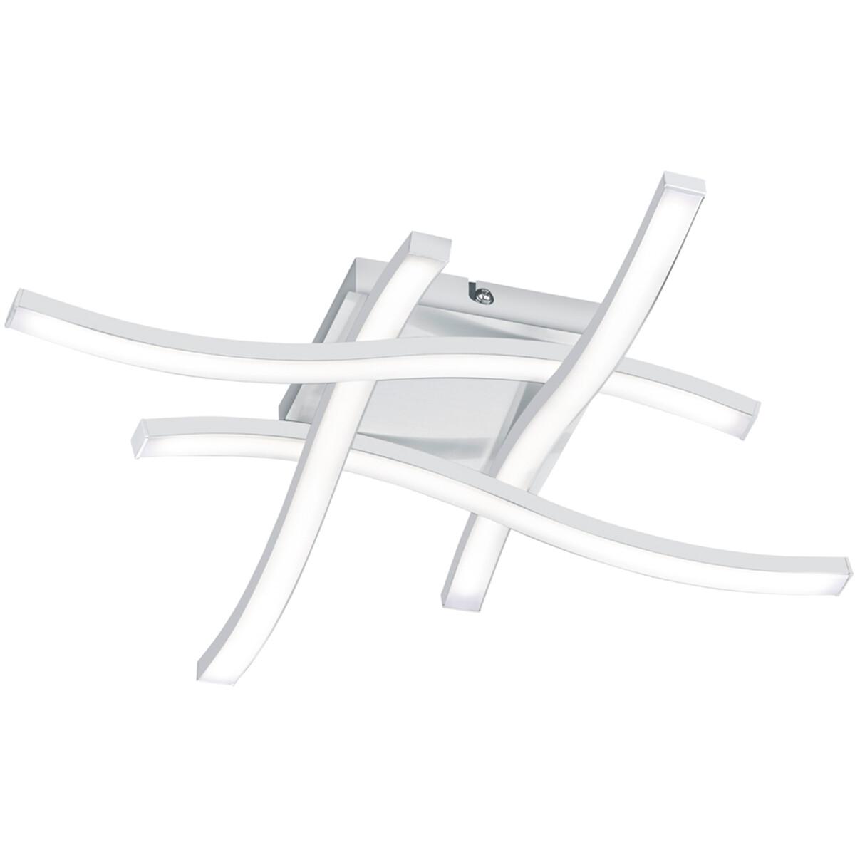 LED Plafondlamp - Plafondverlichting - Trion Ritonu - 20W - Natuurlijk Wit 4000K - Vierkant - Mat Wi