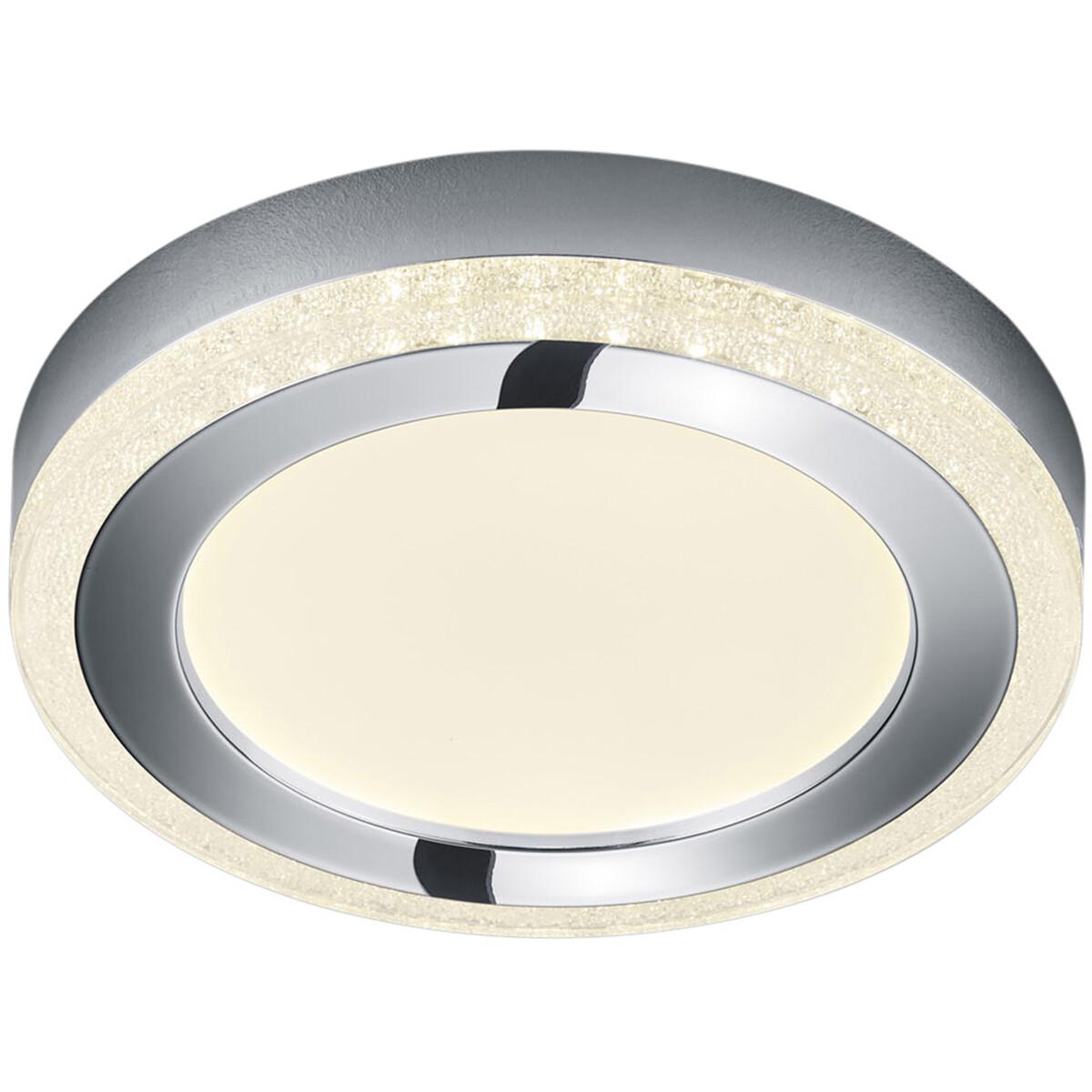LED Plafondlamp - Plafondverlichting - Trion Slodan - 10W - Aanpasbare Kleur - Rond - Mat Wit - Kuns