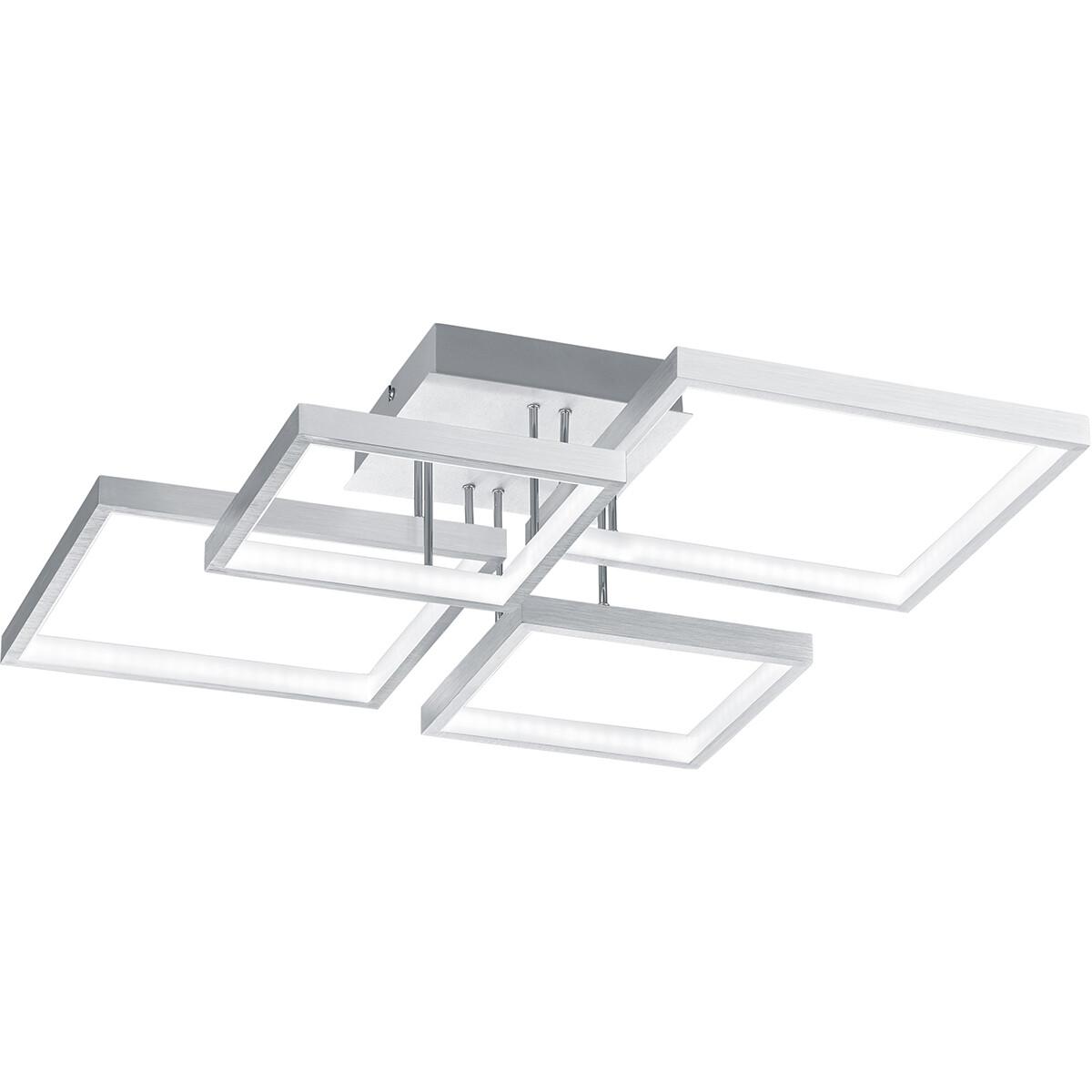LED Plafondlamp - Plafondverlichting - Trion Soranto - 24W - Warm Wit 3000K - Dimbaar - Vierkant - M