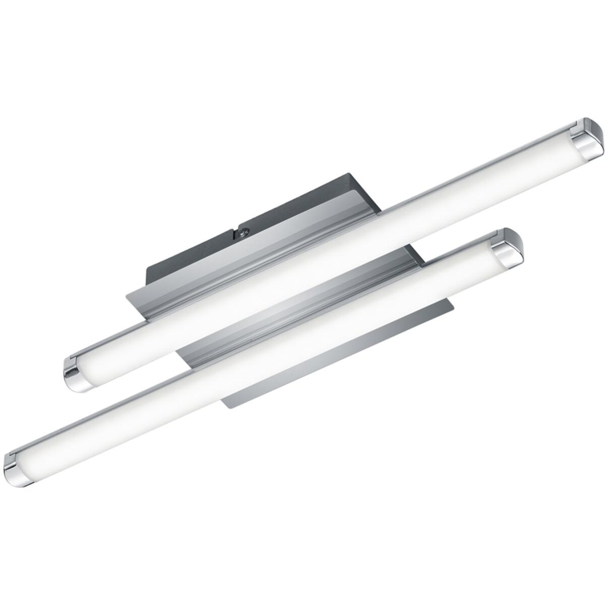 LED Plafondlamp - Plafondverlichting - Trion Staton - 8W - Warm Wit 3000K - Rechthoek - Mat Wit - Al