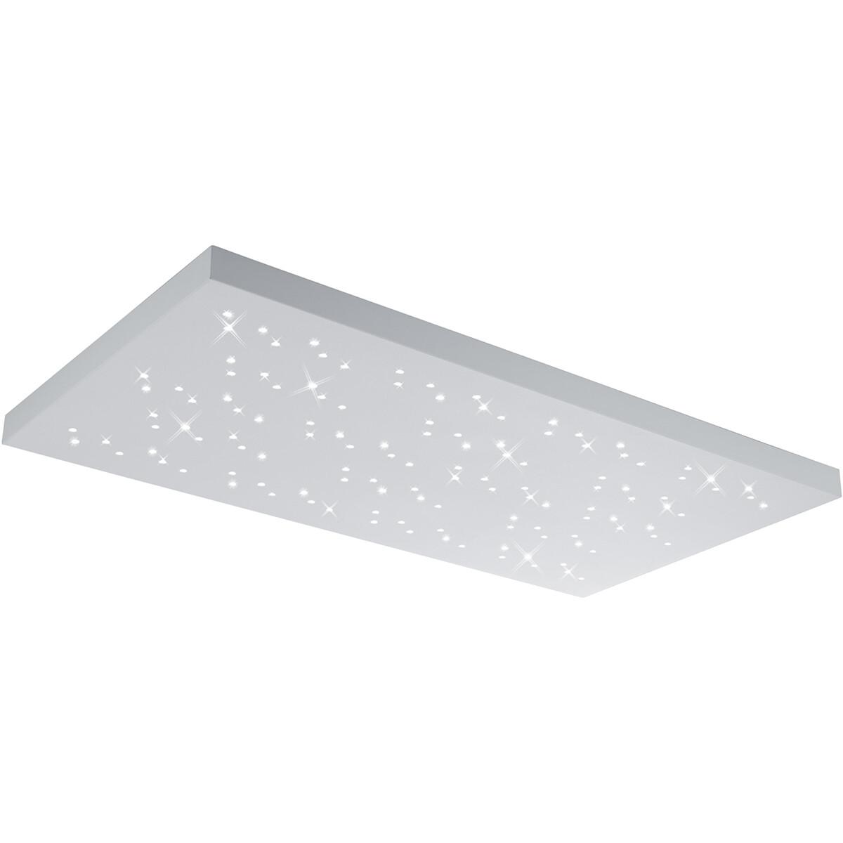 LED Plafondlamp - Plafondverlichting - Trion Tarza - 48W - Aanpasbare Kleur - Rechthoek - Mat Wit -