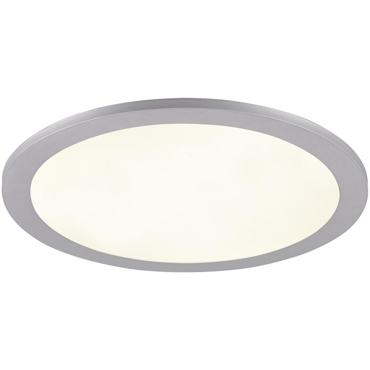 LED Plafondlamp - Plafondverlichting - Trion Tiberon - 16W - Natuurlijk Wit 4000K - Rond - Mat Titaa