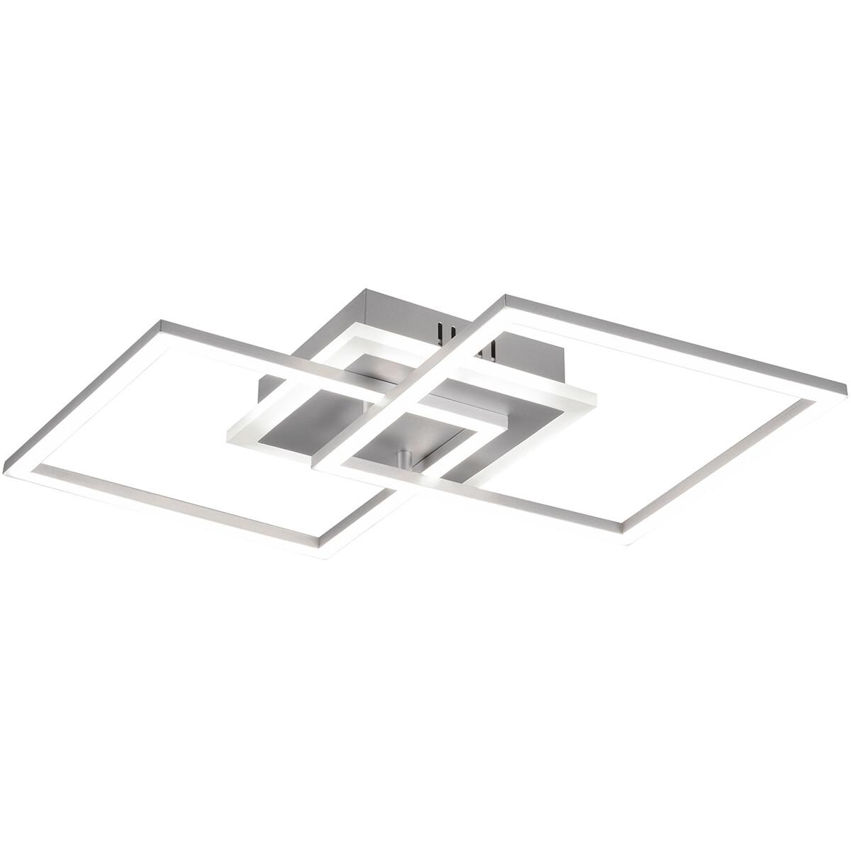 LED Plafondlamp - Plafondverlichting - Trion Venda - 25W - Warm Wit 3000K - Dimbaar - Vierkant - Mat