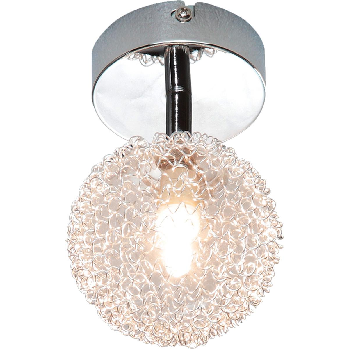 LED Plafondlamp - Plafondverlichting - Trion Ware - G9 Fitting - 1-Lichts - Rond - Glans Chroom - Al