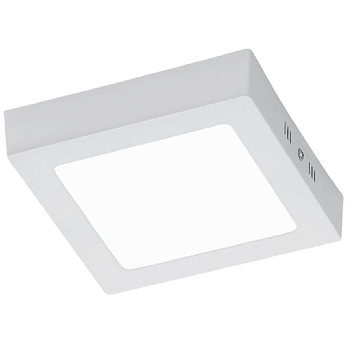 LED Plafondlamp - Plafondverlichting - Trion Zonin - 12W - Warm Wit 3000K - Vierkant - Mat Wit - Alu