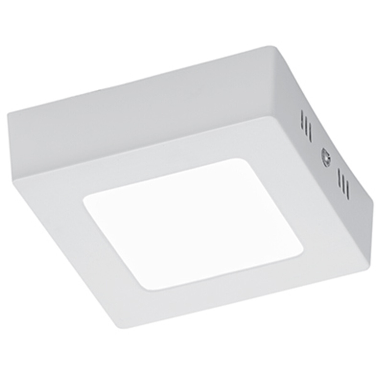 LED Plafondlamp - Plafondverlichting - Trion Zonin - 5W - Warm Wit 3000K - Vierkant - Mat Wit - Alum
