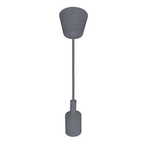 LED Plafondlamp - Plafondverlichting - Turno - Rond - Mat Grijs Kunststof - E27
