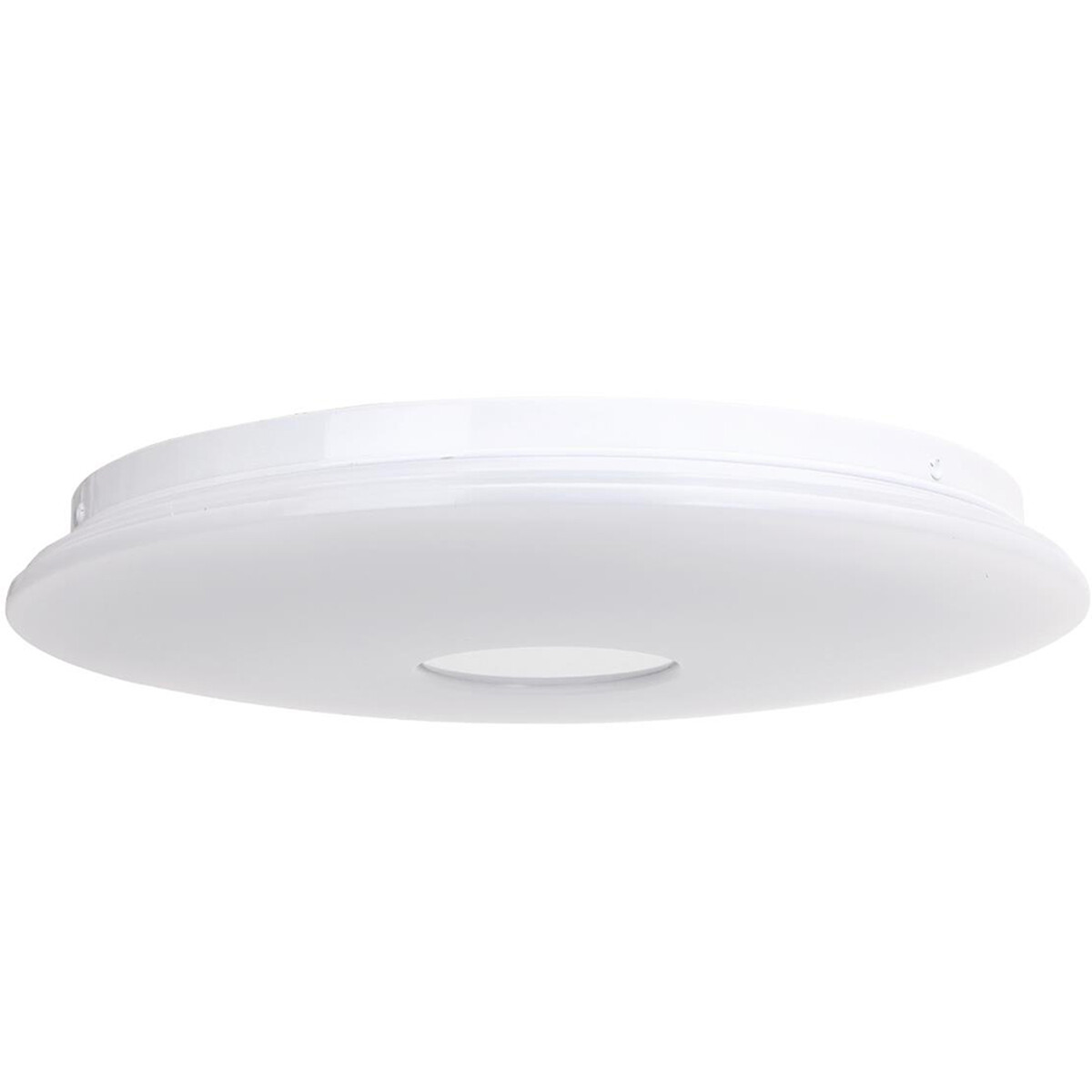 LED Plafondlamp - Smart LED - Trion Ikano - 18W - Aanpasbare Kleur - Rond - Mat Wit - Aluminium