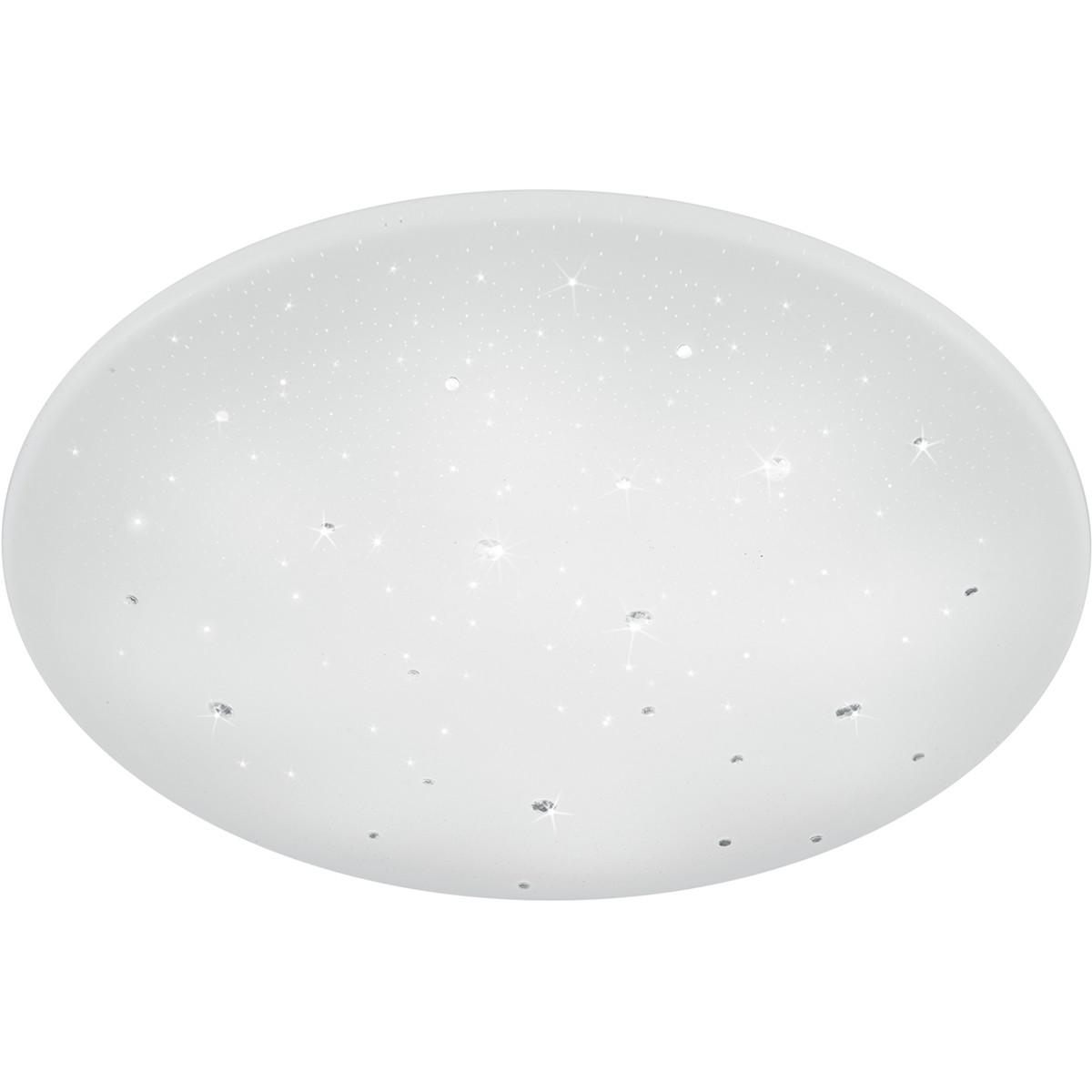 LED Plafondlamp - Trion Acinoa - 40W - Aanpasbare Kleur - Dimbaar - Afstandsbediening - Rond - Mat W