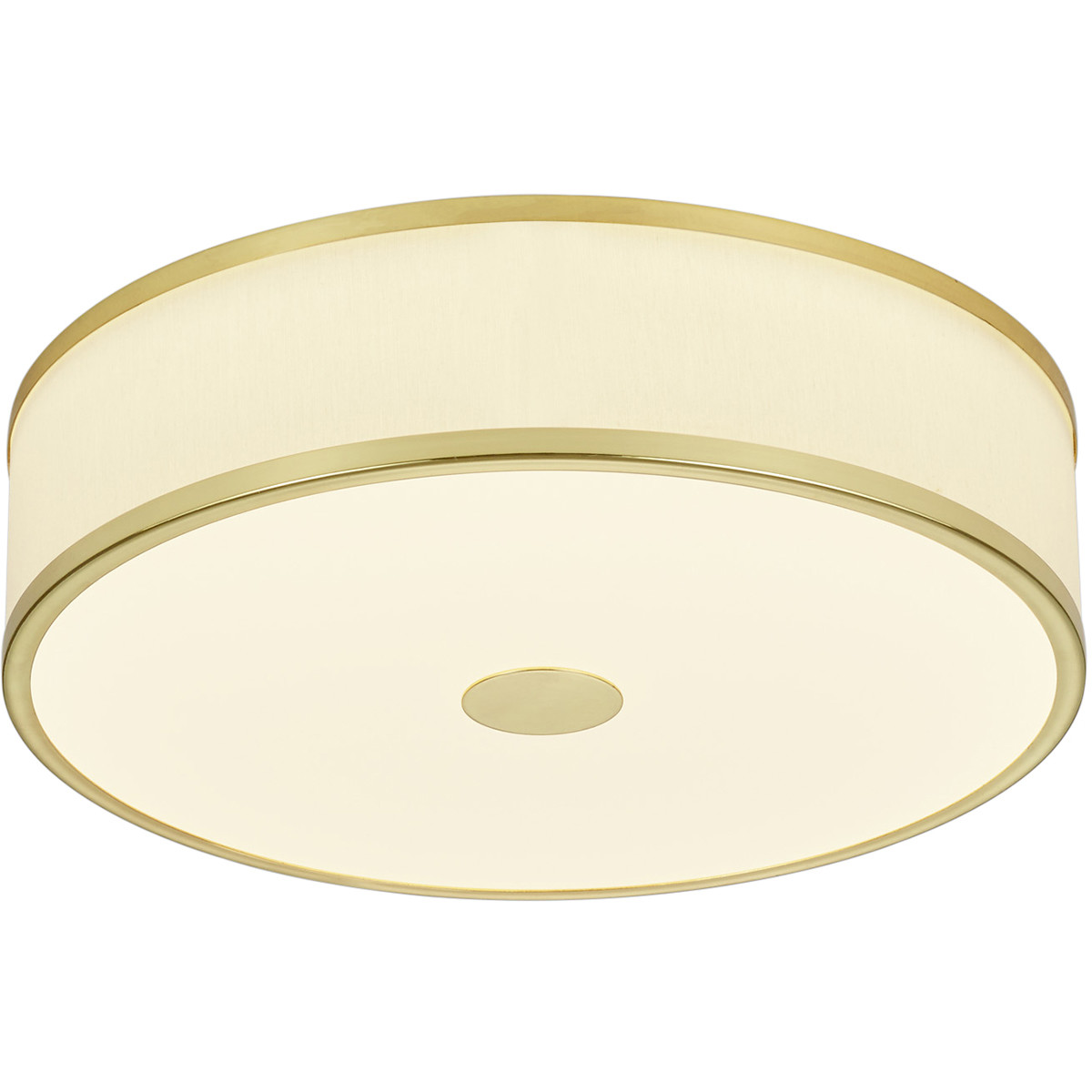 LED Plafondlamp - Trion Agiany - Opbouw Rond - 24W - Dimbaar - Warm Wit 3000K - Mat Goud - Aluminium