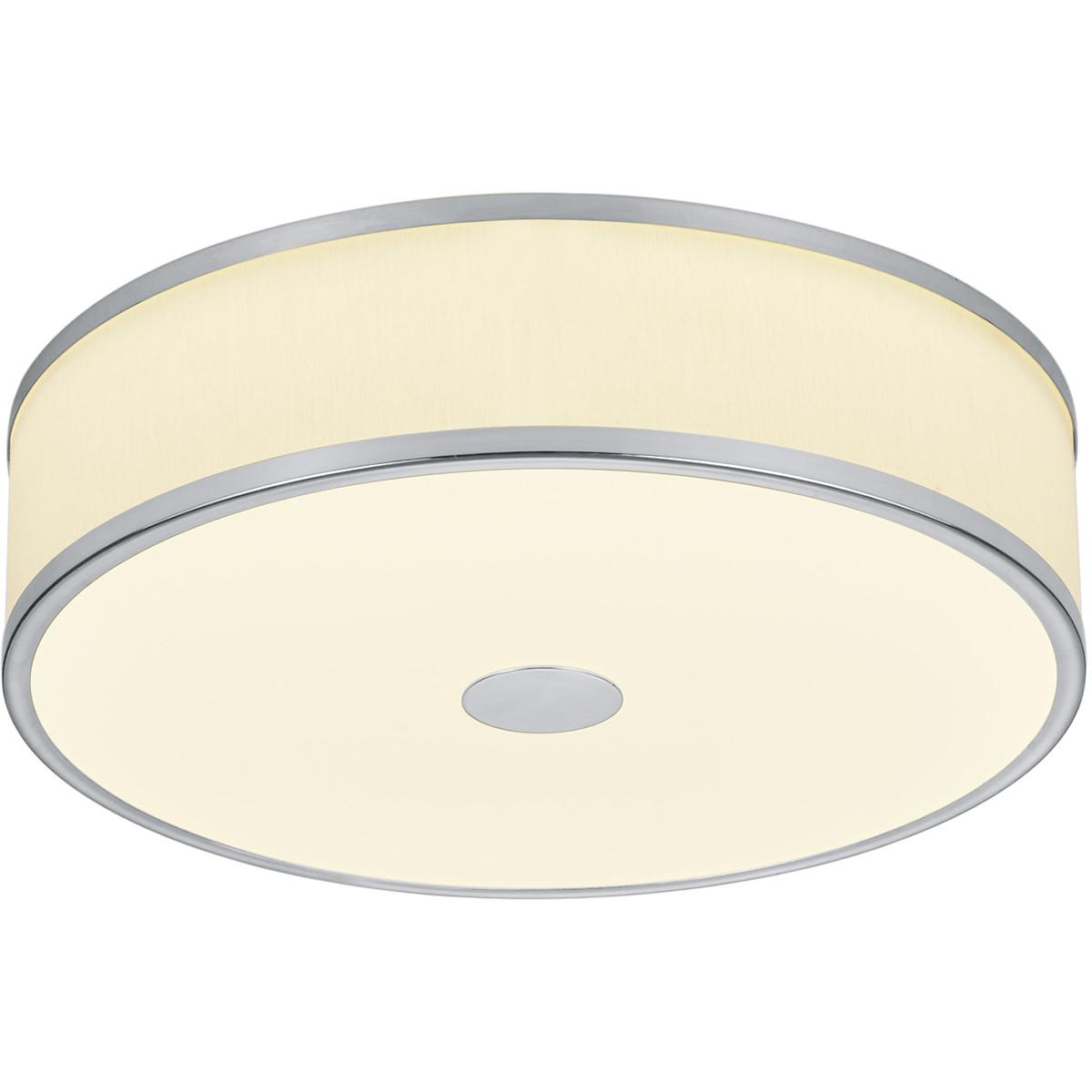 LED Plafondlamp - Trion Agiany - Opbouw Rond - 24W - Dimbaar - Warm Wit 3000K - Mat Nikkel - Alumini