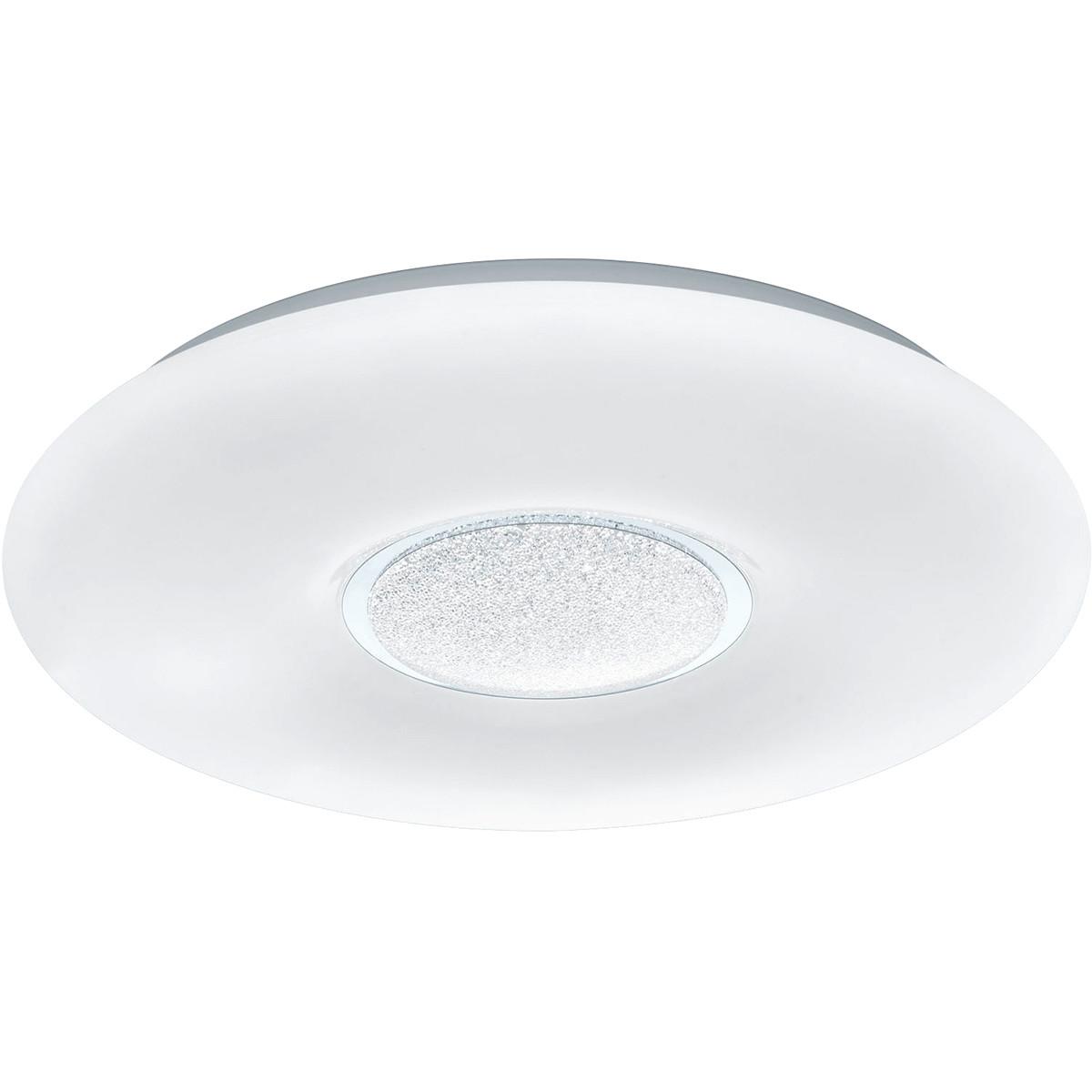 LED Plafondlamp - Trion Ako - 21W - Aanpasbare Kleur - Dimbaar - Afstandsbediening - Rond - Mat Wit
