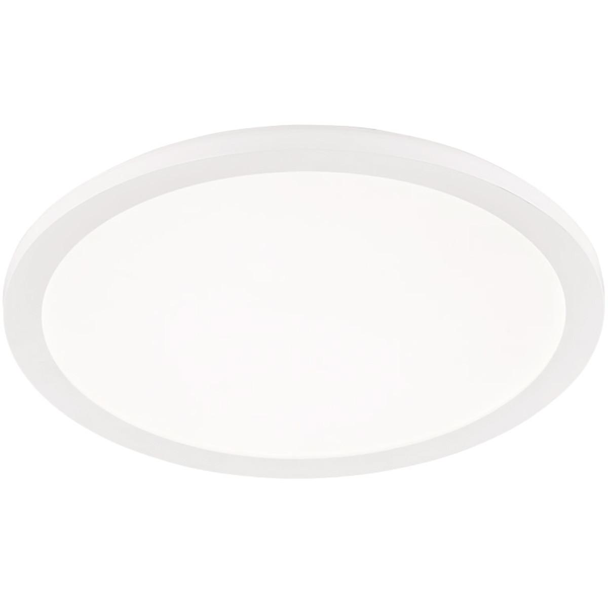 LED Plafondlamp - Trion Camy - Opbouw Rond 24W - Spatwaterdicht IP44 - Dimbaar - Warm Wit 3000K - Ma