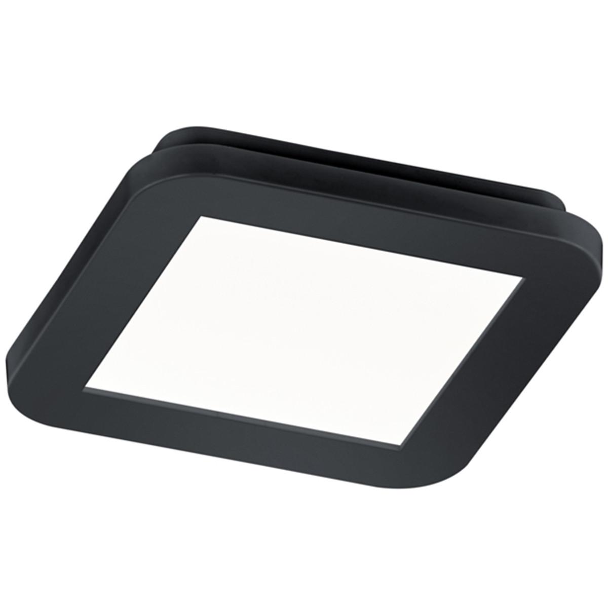 LED Plafondlamp - Trion Camy - Opbouw Vierkant 10W - Spatwaterdicht IP44 - Dimbaar - Warm Wit 3000K