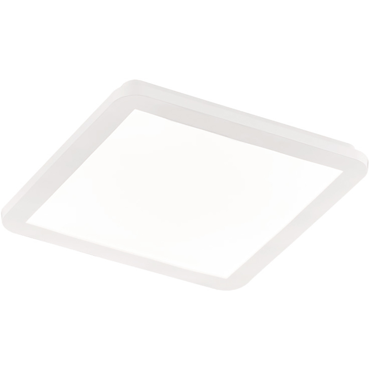 LED Plafondlamp - Trion Camy - Opbouw Vierkant 18W - Spatwaterdicht IP44 - Dimbaar - Warm Wit 3000K