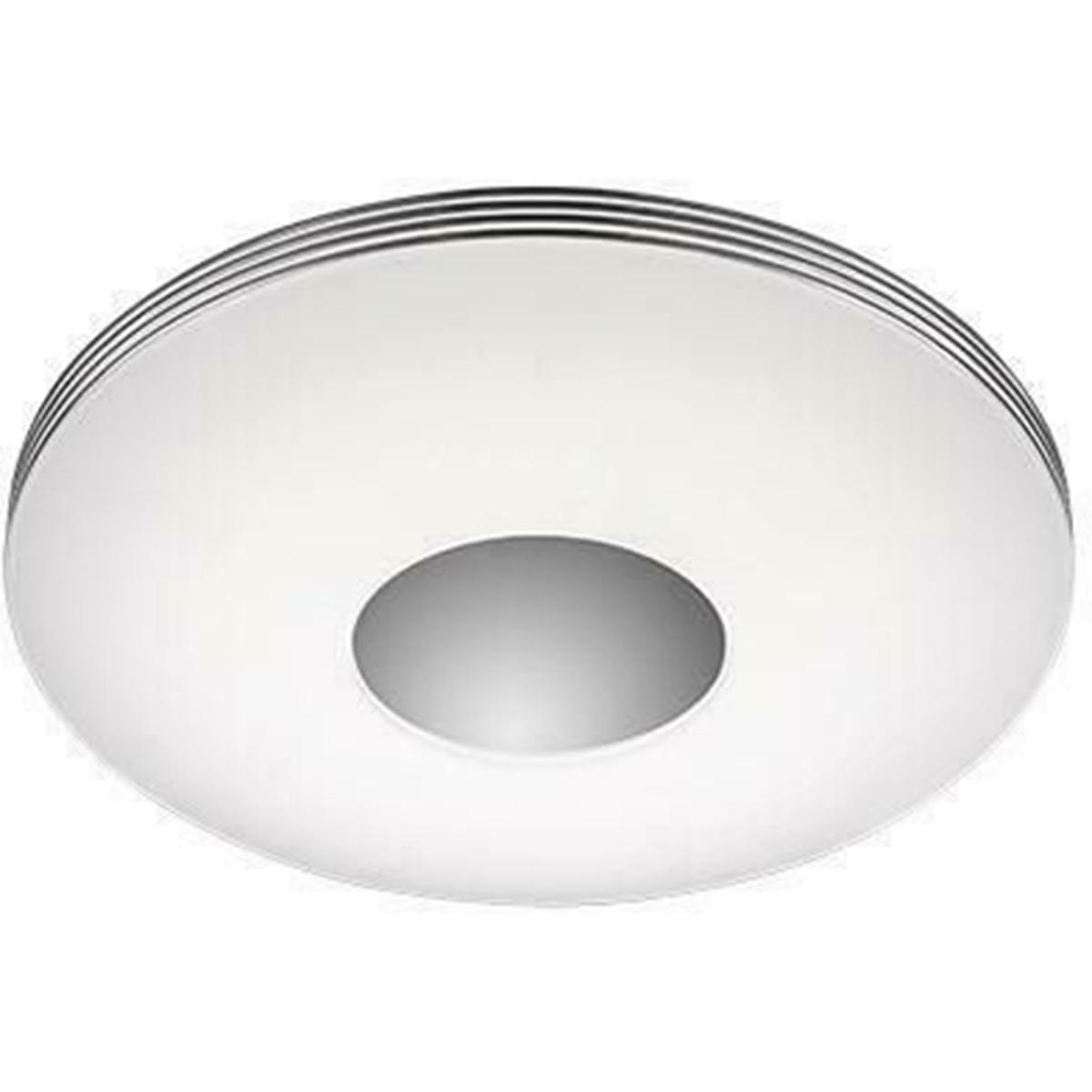 LED Plafondlamp - Trion Castonar - 25W - Aanpasbare Kleur - Dimbaar - Afstandsbediening - Rond - Gla