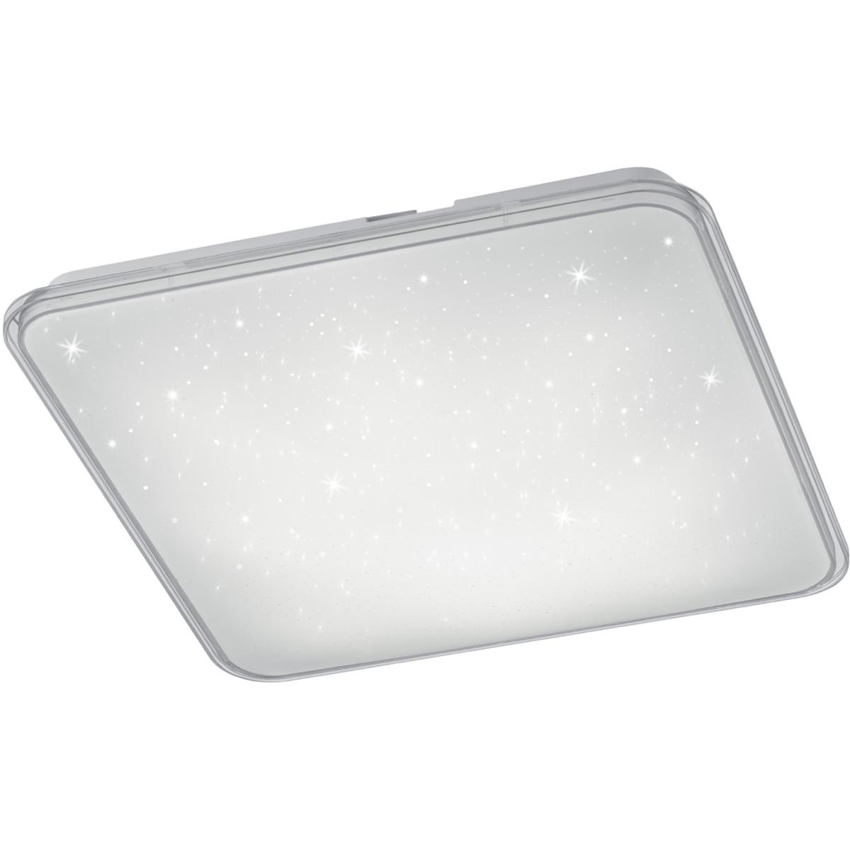 LED Plafondlamp - Trion Cintro - 21W - Natuurlijk Wit 4000K - Dimbaar - Vierkant - Mat Wit - Kunstst