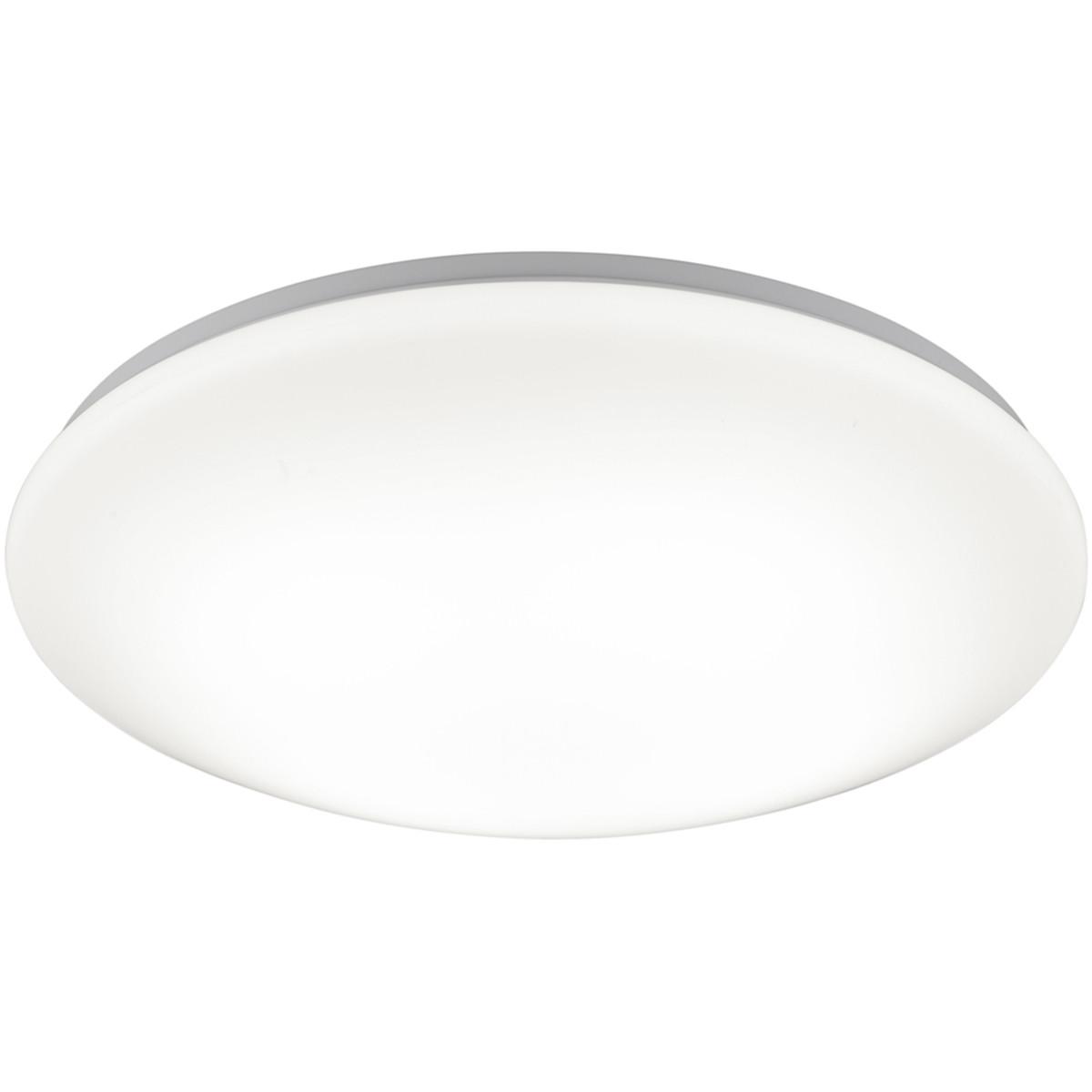 LED Plafondlamp - Trion Conviton - Opbouw Rond 21W - Warm Wit 3000K - Dimbaar - Mat Wit - Acryl