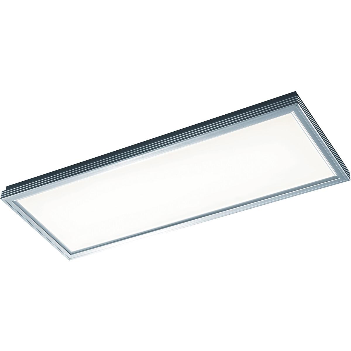LED Plafondlamp - Trion Lokon - 30W - Warm Wit 3000K - Dimbaar - Rechthoek - Mat Wit - Kunststof