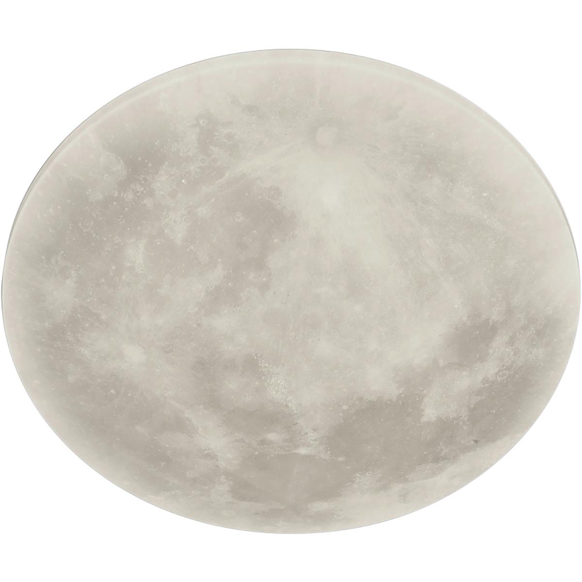 LED Plafondlamp - Trion Maan - 22W - Warm Wit 3000K - Dimbaar - Afstandsbediening - Rond - Mat Wit