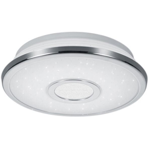 LED Plafondlamp - Trion Osirina - 12W - Warm Wit 3000K - Dimbaar - Sterlicht - Rond - Glans Chroom -