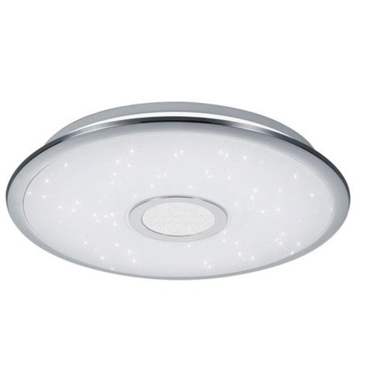 LED Plafondlamp - Trion Osirina - 30W - Aanpasbare Kleur - Dimbaar - Afstandsbediening - Rond - Glan