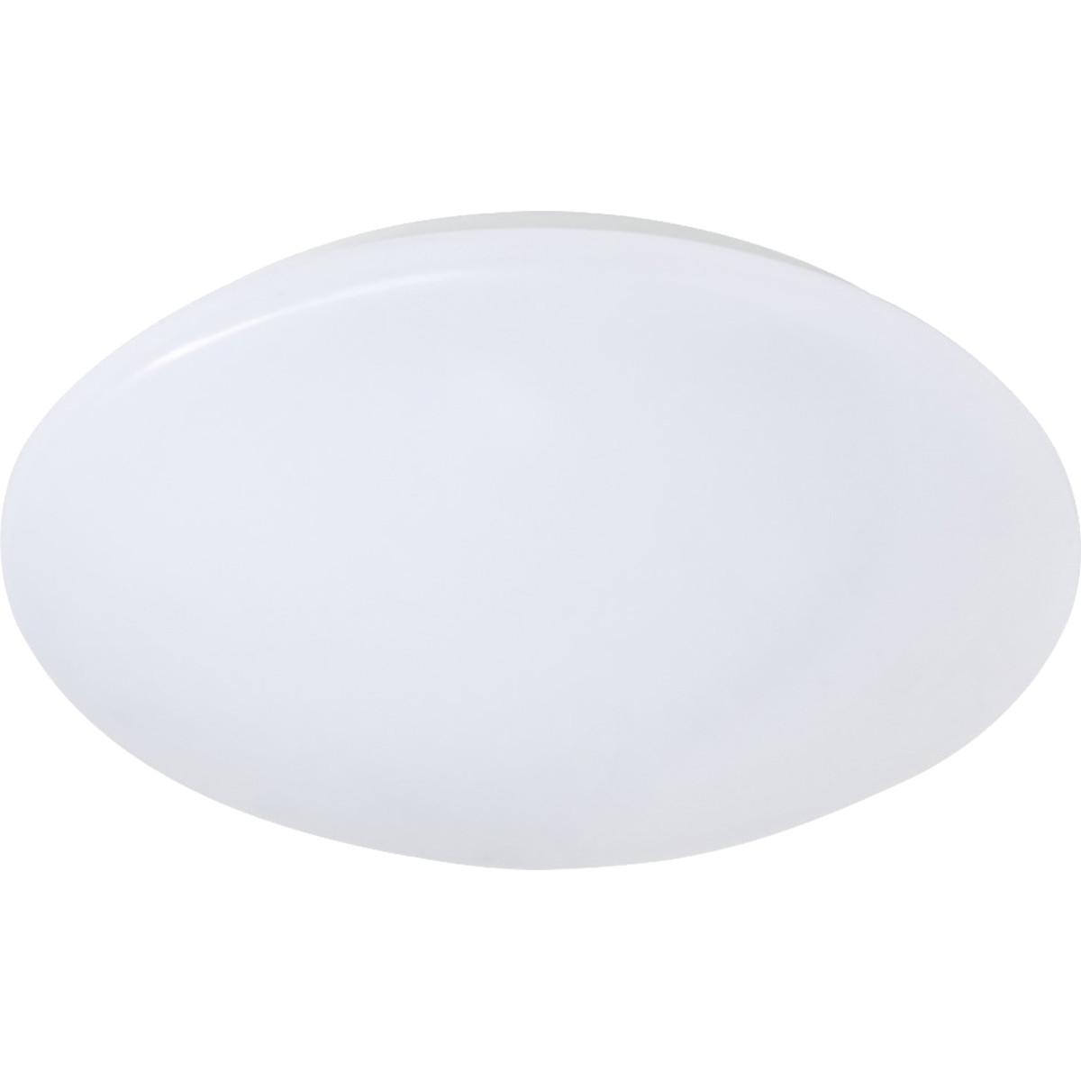 LED Plafondlamp - Trion Puta - Opbouw Rond 12W - Spatwaterdicht IP44 - Warm Wit 3000K - Mat Wit Kuns