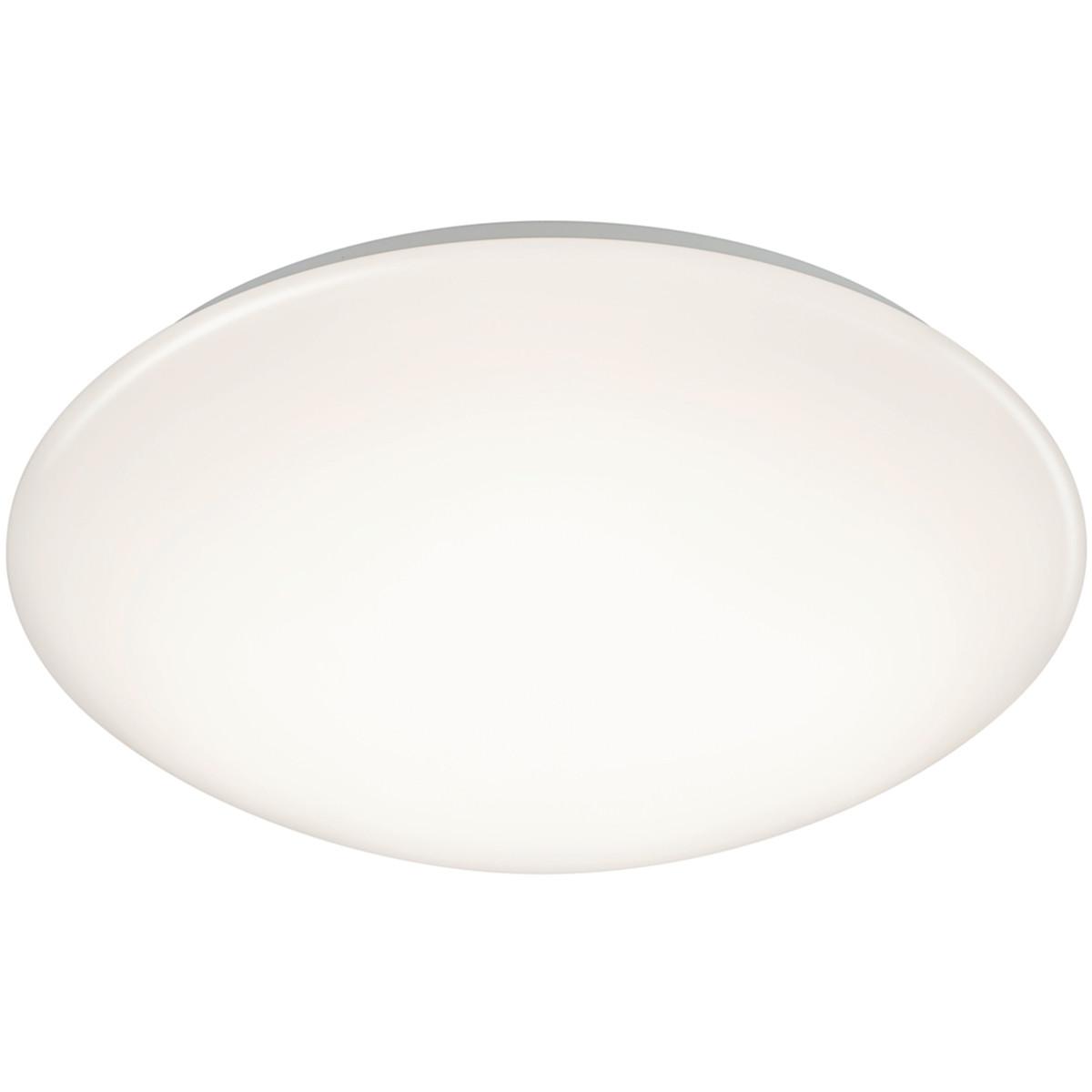 LED Plafondlamp - Trion Puta - Opbouw Rond 15W - Spatwaterdicht IP44 - Warm Wit 3000K - Mat Wit Kuns