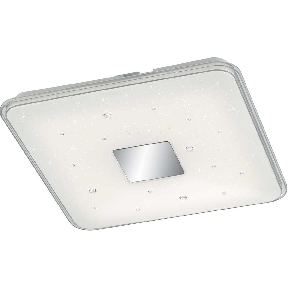 LED Plafondlamp - Trion Rikon - 30W - Aanpasbare Kleur - Dimbaar - Afstandsbediening - Sterlicht - V